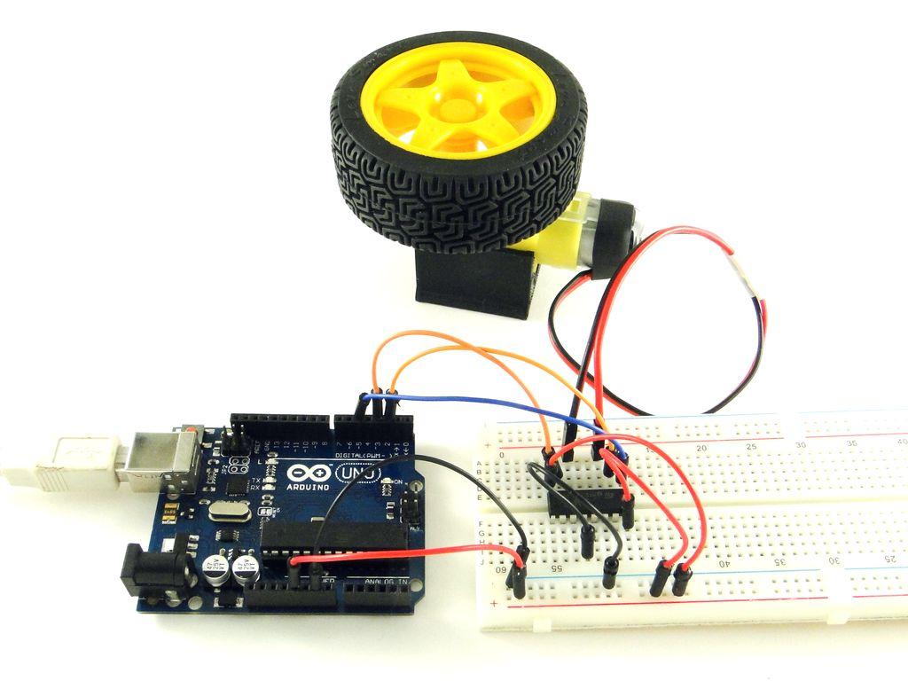 Ардуино: управление двигателем постоянного тока, L293D