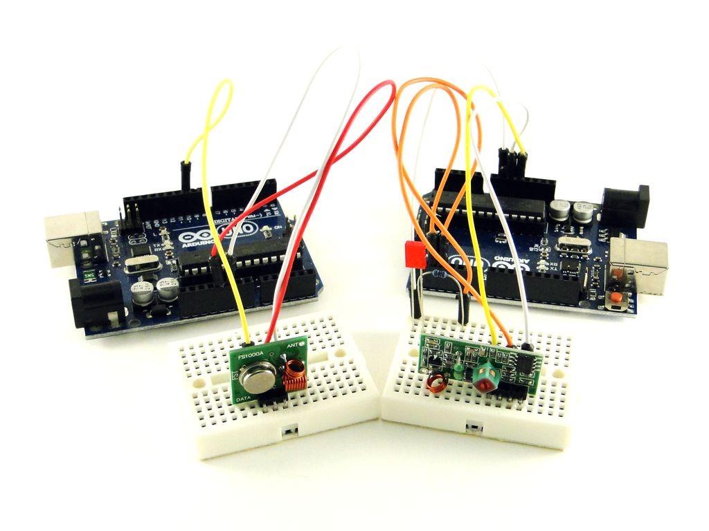 Подключение Ардуино к приемнику и передатчику 433 МГц