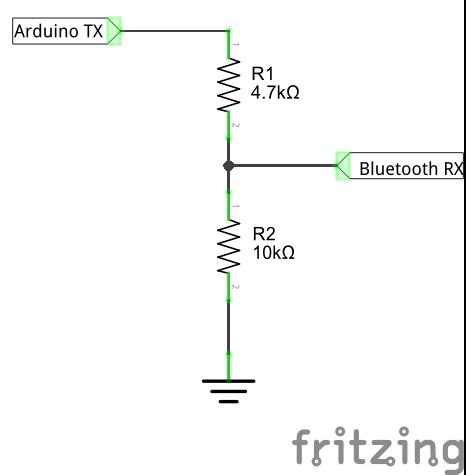 Делитель напряжения для Bluetooth HC-05