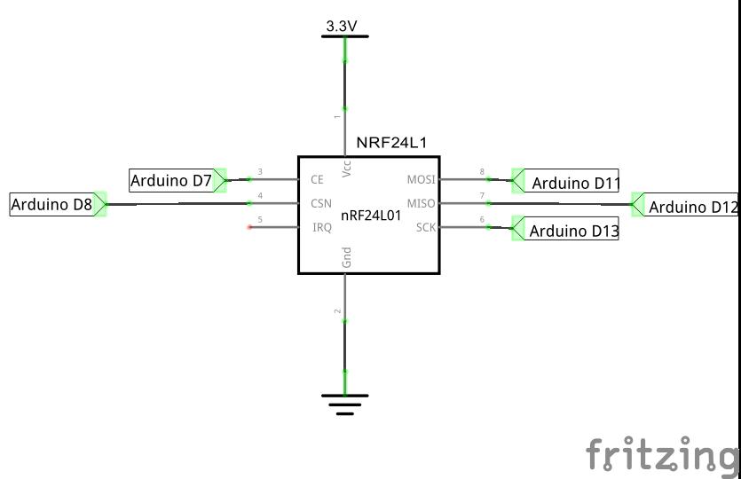 Схема подключения nRF24L01 к Ардуино Уно