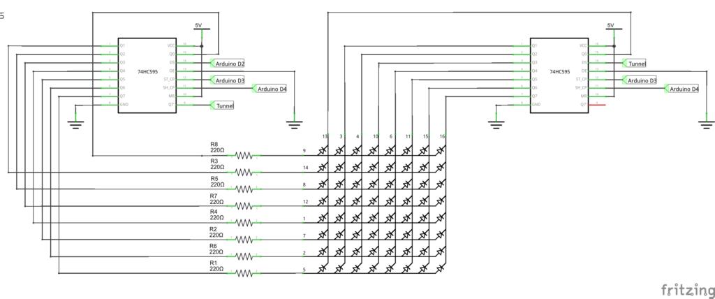 Принципиальная схема светодиодная матрица Ардуино