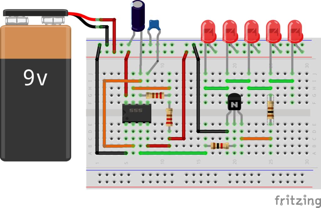 Схема подключения таймера 555