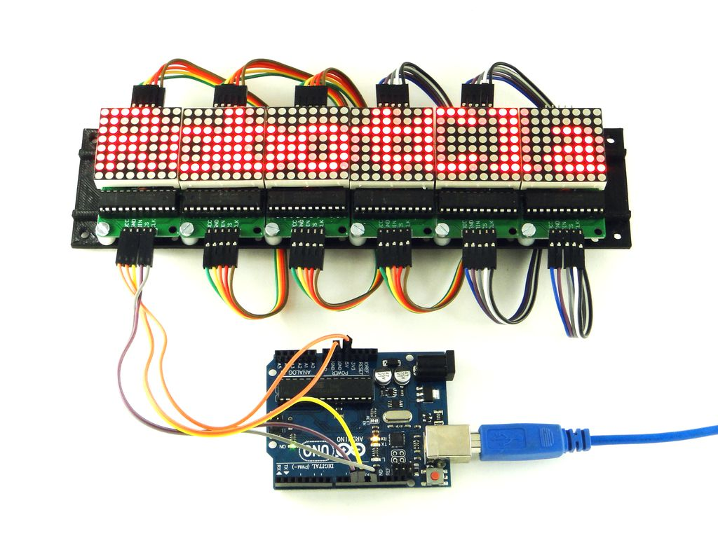 Светодиодная матрица 8x8 и max7912