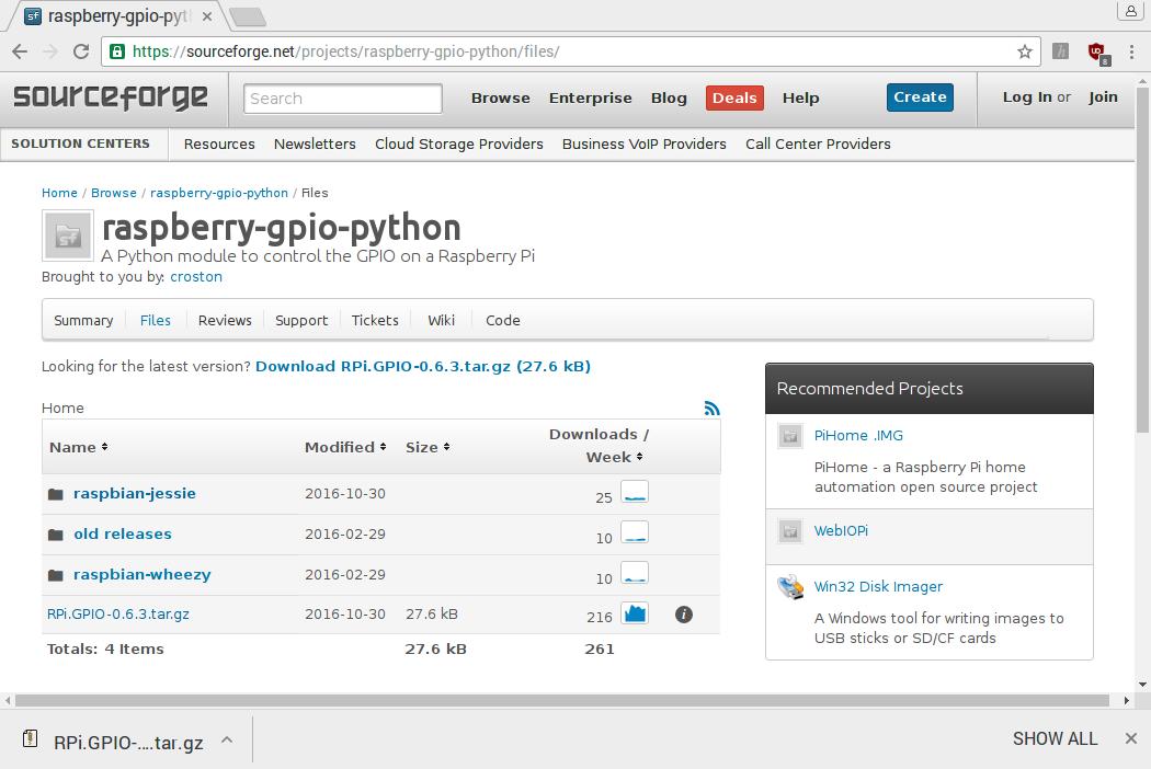 Raspberry Pi: установка библиотеки RPi GPIO для python