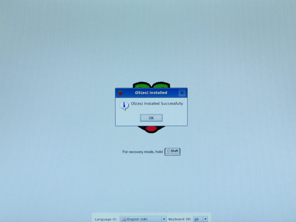 Установка NOOBS на Raspberry Pi