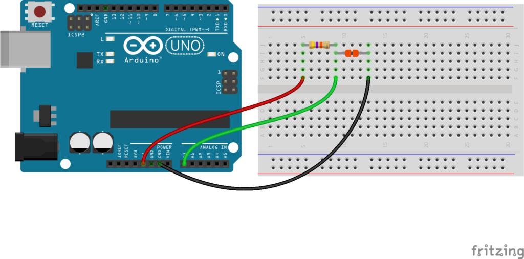 Схема подключения термистора NTC 100K к Ардуино