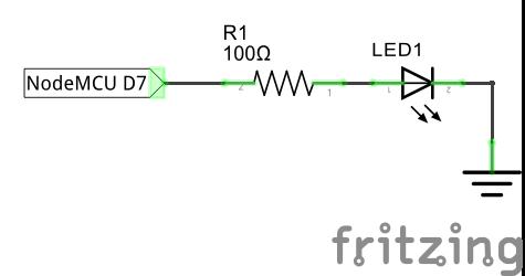 Подключение светодиода к NodeMCU