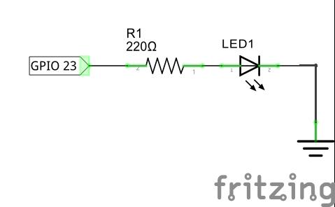 Подключение светодиода к Raspberry Pi