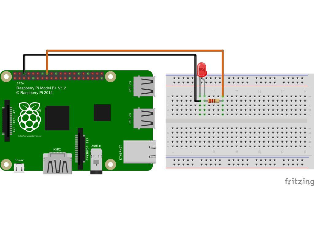 Управление светодиодом на Raspberry Pi