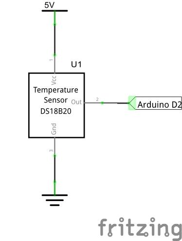 Схема подключения DS18B20 к Ардуино