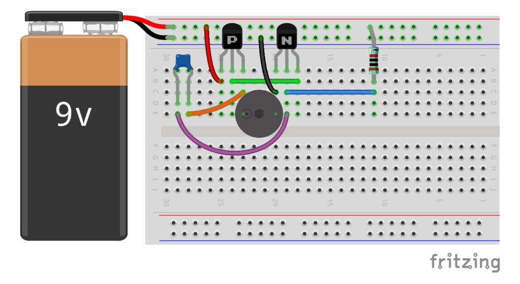 Генератор звука на транзисторах. Несимметричный мультивибратор