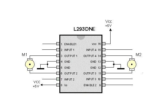 Мобильный робот на Raspberry Pi, схема подключения моторов