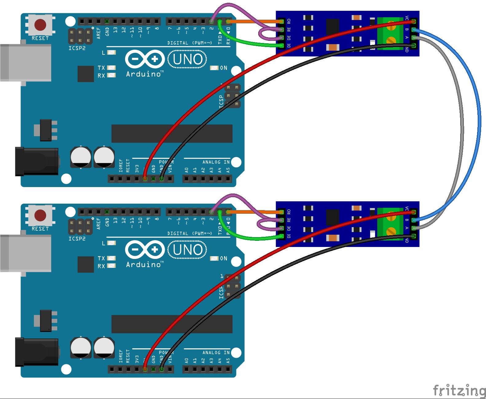 Ардуино: передача данных на большие расстояния - RS485