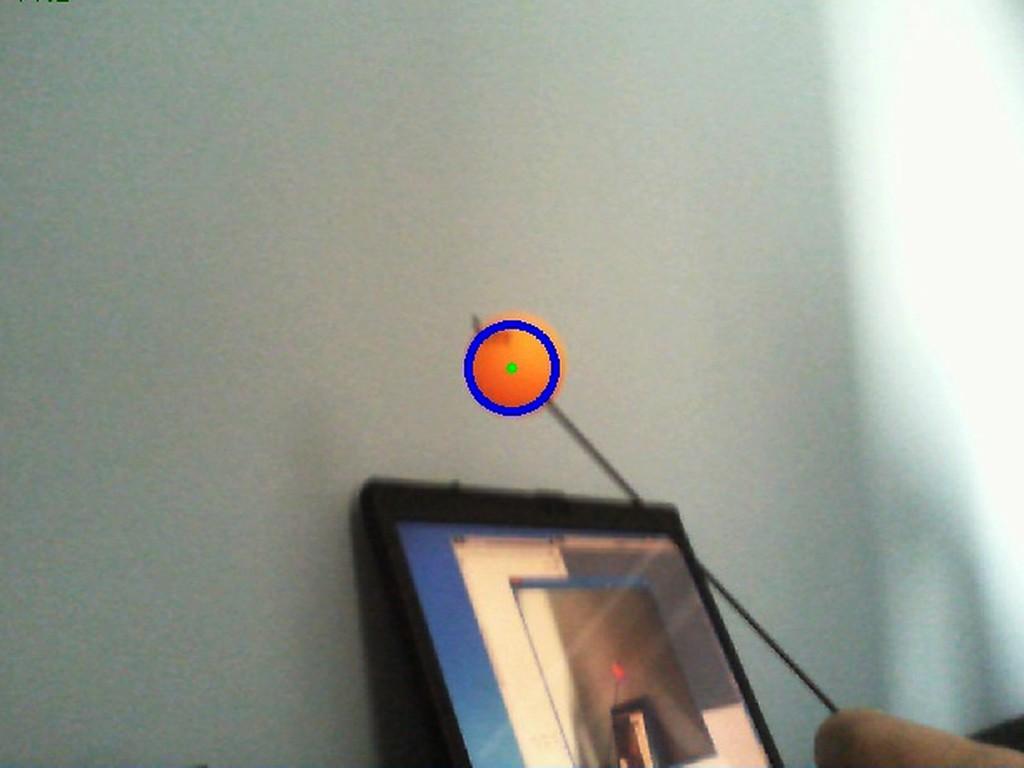 Слежение за шариком OpenCV
