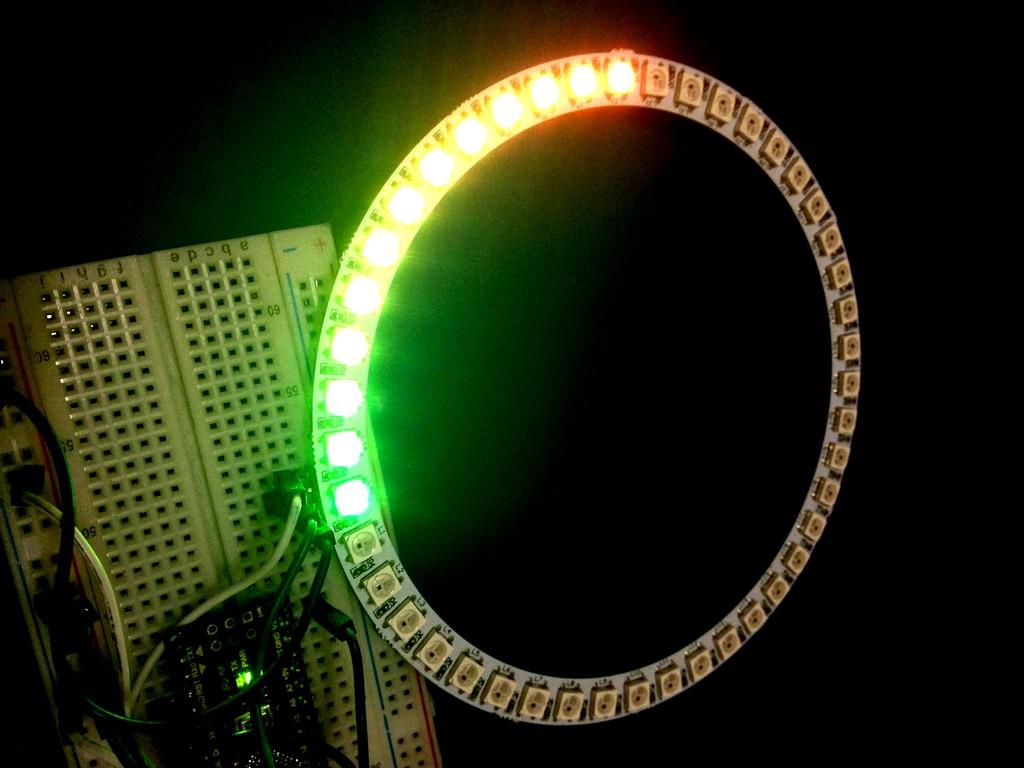Спидометр из адресных светодиодов на Ардуино Нано