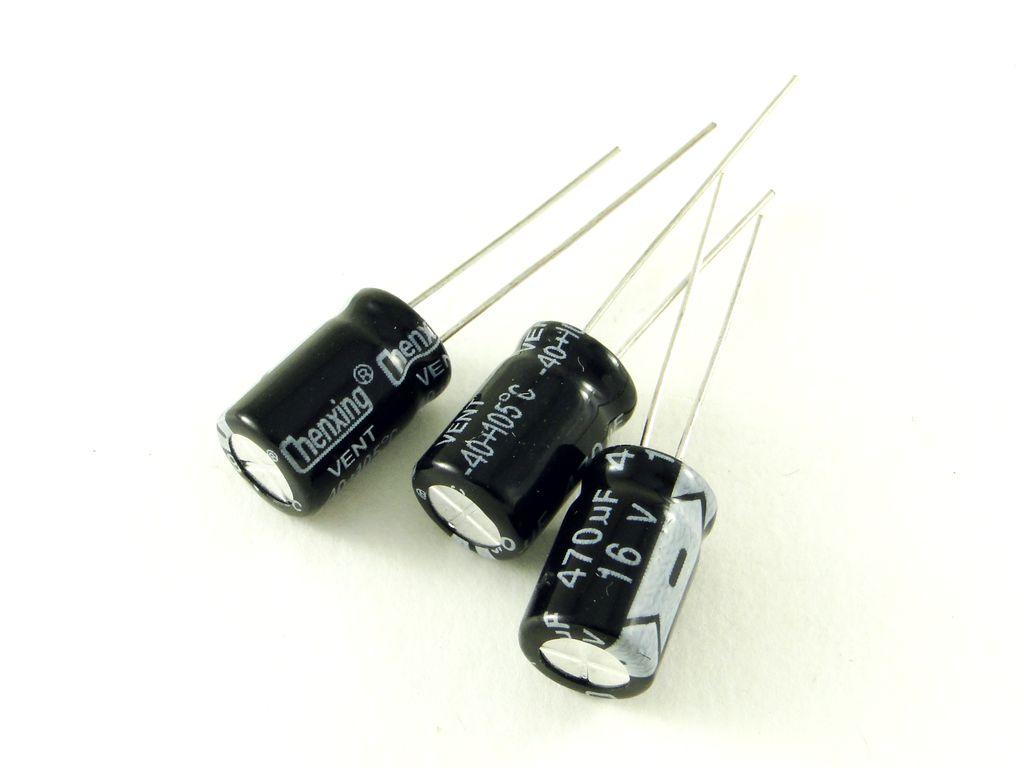 Электролитический конденсатор 470мкФ 16В