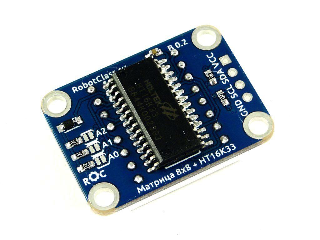 Светодиодная матрица 8x8 I2C ROC