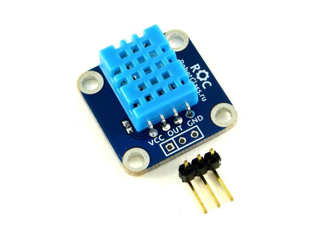 Датчик влажности и температуры DHT11 от RobotClass