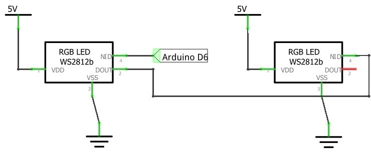 Адресные светодиоды ws2812b в цепочке