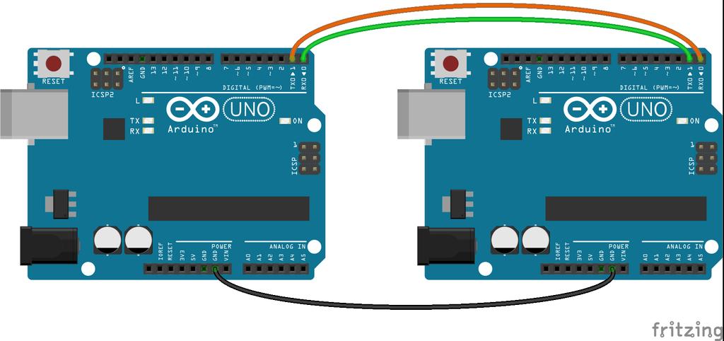 Подключение двух Arduino по UART