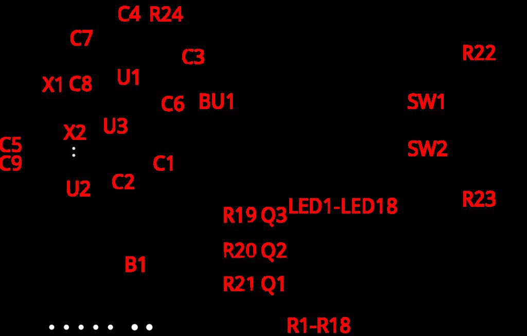Монтажная схема бинарных часов